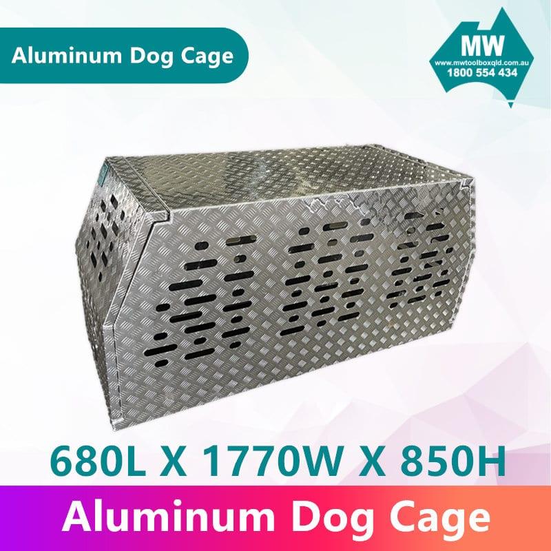 Aluminium Dog Cage-1