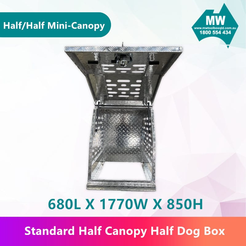 Half Dog Box Half Mini Canopy-3