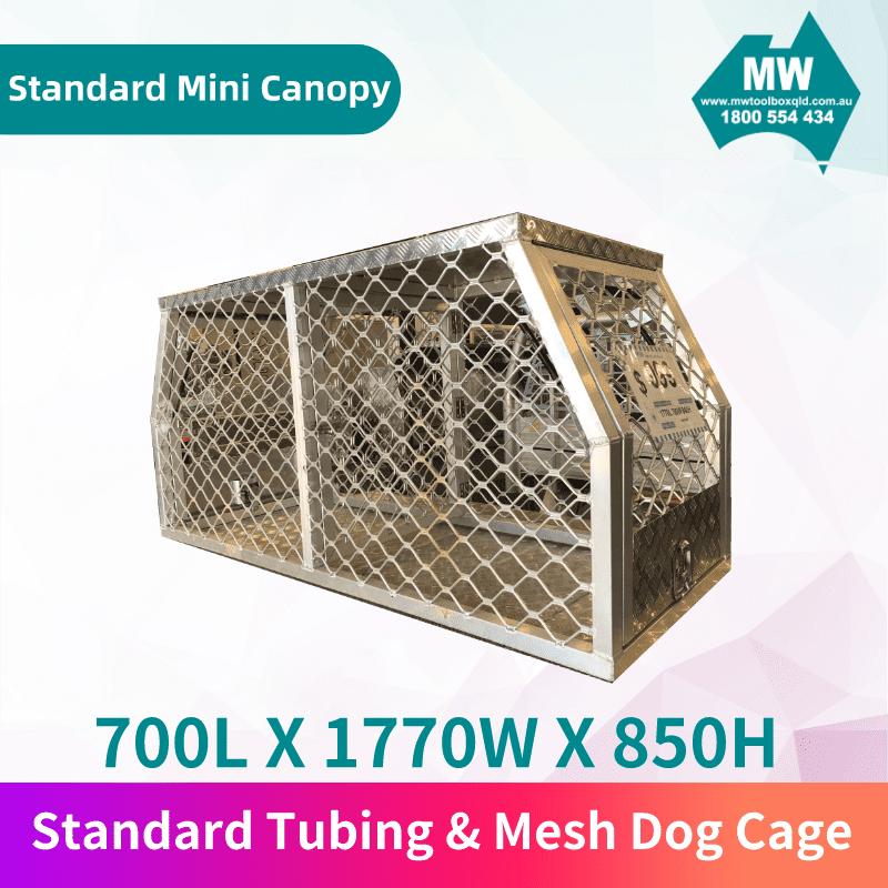 Tubing & Mesh Dog Cage-1