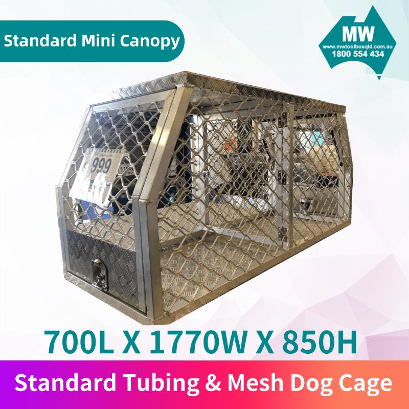 Tubing & Mesh Dog Cage-2