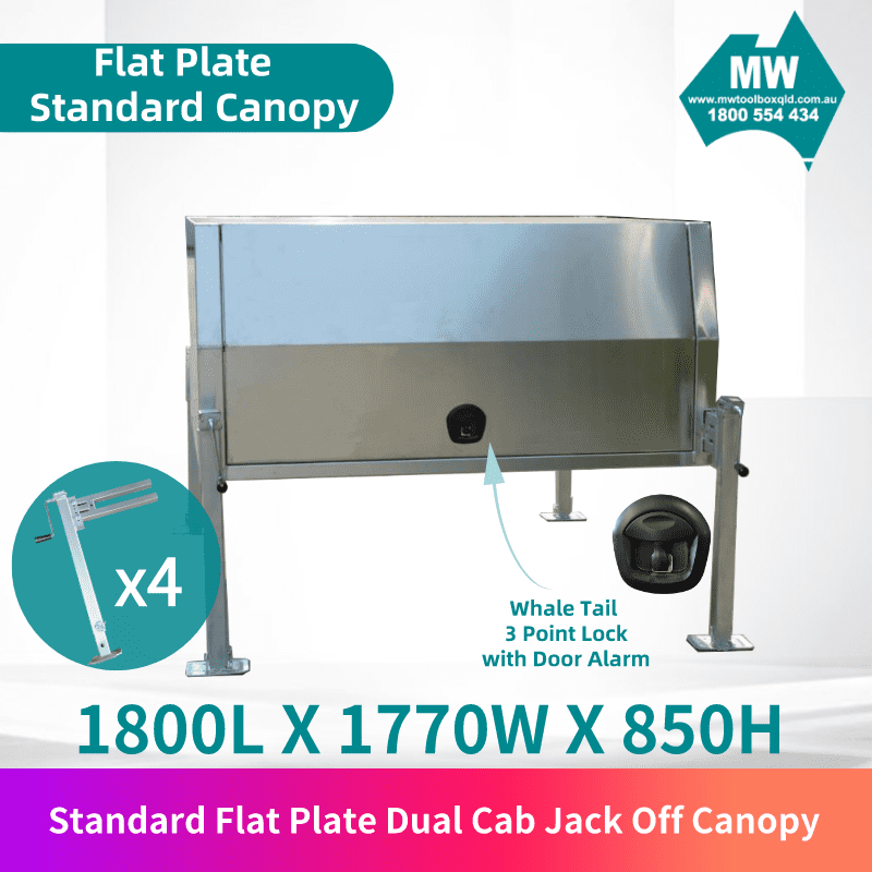 Flat plate jack off dual cab 1