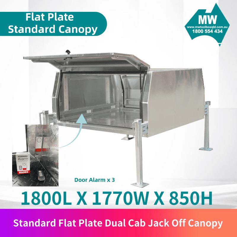 Flat plate jack off dual cab 2