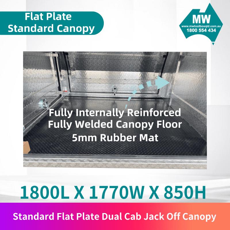 Flat plate jack off dual cab 3