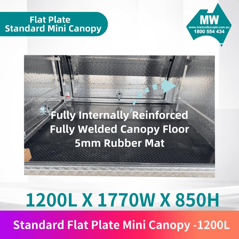 Flat plate mini canopy 1200L 3