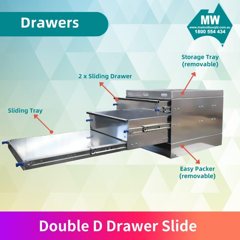 Double D Drawer Slide