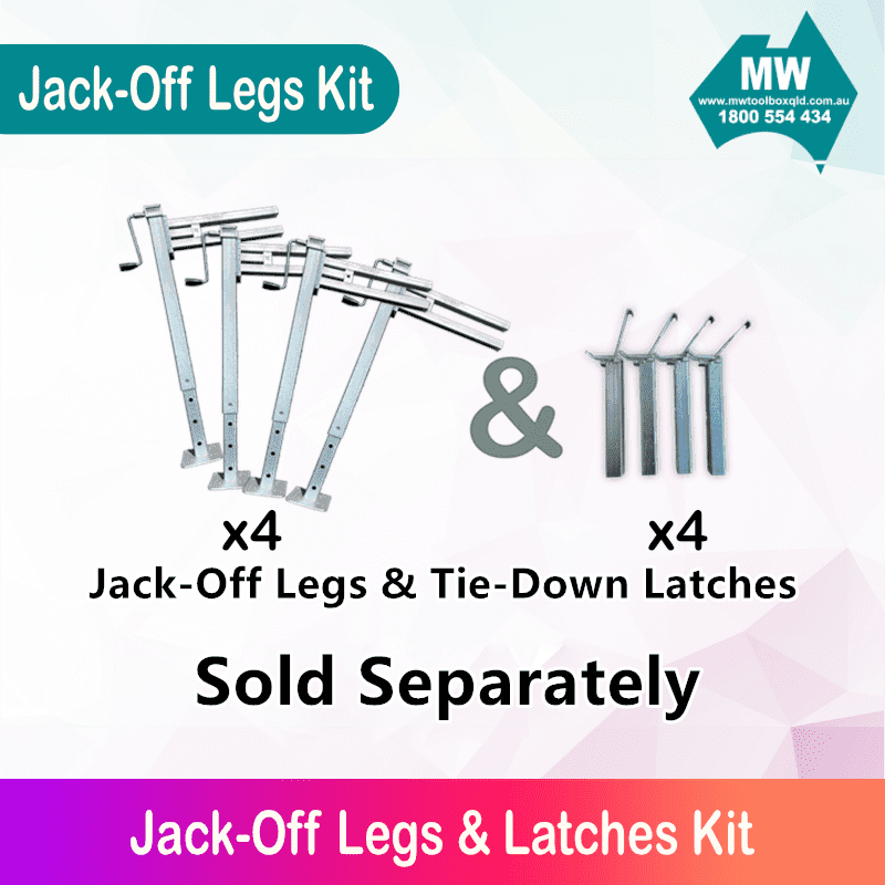 jack-off legs and latches